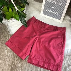 LOFT Size 6 Red Pink Cotton Shorts